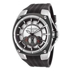 Mulco  - Nefesh Silver Dial Chronograph Black Rubber Men