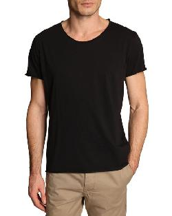 FILIPPA K - Roll Edge Black T-Shirt