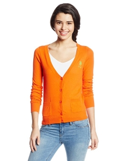 U.s. Polo Assn. - V Neck Cardigan with Patch Pockets