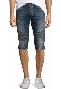 True Religion - Geno Cutoff Moto Shorts