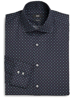 Hugo Boss - Dot Print Dress Shirt