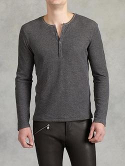 John Varvatos - Cotton Double Layer Henley Shirt