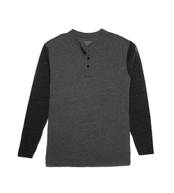 Roundtree & Yorke - Long-Sleeve Colorblock Henley Shirt