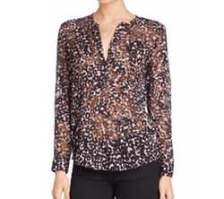 Rebecca Taylor - Long Sleeve Sheer Silk Blouse