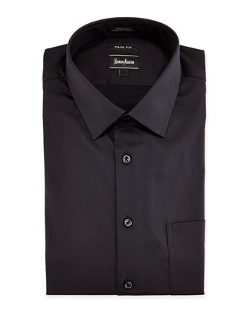 Neiman Marcus  - Trim Fit Stretch Woven Dress Shirt