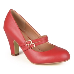 Journee Collection - Mary Jane Faux Leather Pumps