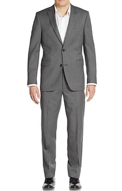 Saks Fifth Avenue - Trim-Fit Solid Wool Suit