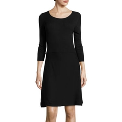 Worthington - Fit-And-Flare Sweater Dress