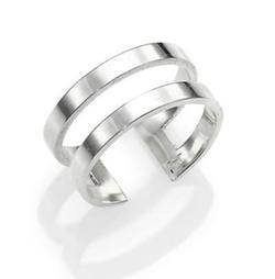 Jennifer Zeuner Jewelry - Yvette Two-Band Midi Ring