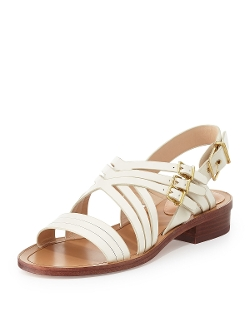 Pour la Victoire - Strappy Leather Flat Sandals