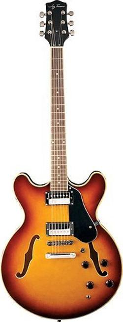 Jay Turser - Jazz Guitars Jt-133-tsb Semi Hollow-body Electric Guitar, Tobacco Sunburst