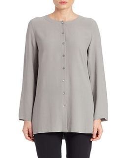 Eileen Fisher - Boxy Silk Blouse