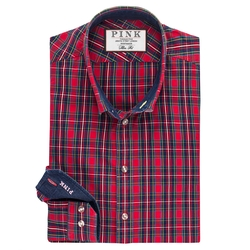 Thomas Pink - Potter Check Slim Fit Button Cuff Shirt