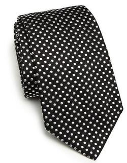 Armani Collezioni - Polka Dot Print Silk Tie