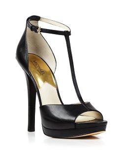 Michael Michael Kors  - Open Toe T Strap Platform Sandals