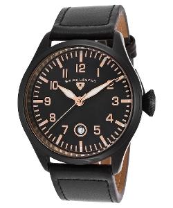Swiss Legend - Pioneer Black Genuine Leather Watch