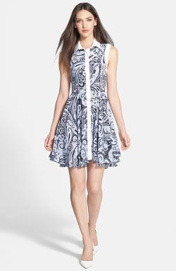 Trina Turk  - Allyson Print Silk Shirtdress