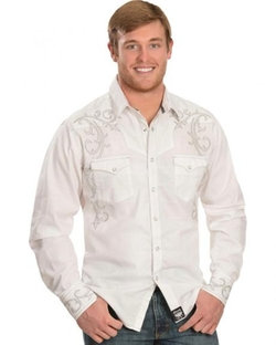 Wrangler - Dobby Plaid Embroidered Western Shirt