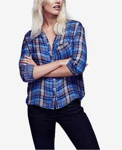 Free People - Joplin Button-Down Plaid Shirt
