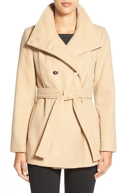 Calvin Klein - Belted Double Breasted Coat