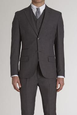 JackThread - Goodale Charcoal Two Button Blazer