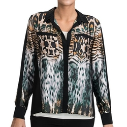 August Silk - Animal Print Blouse