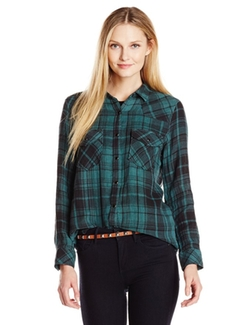 Seven7 - Plaid Button-Front Shirt