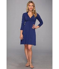 Mod-o-doc - Jersey 3/4 Sleeve Surplice Dress