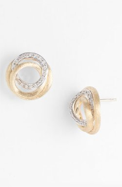 Marco Bicego  - Jaipur Diamond Link Stud Earrings