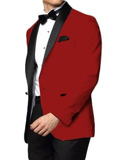 Downtown  - Red and Black Skyfall Tuxedo Jacket