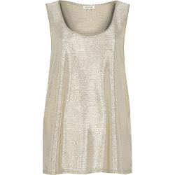 River Island - Gold Metallic Tank Top