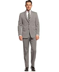 Jones New York  - Golden Fill Suit Grey Sharkskin Stripe