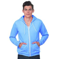 Bella - Canvas Mens Zip-Up Hooded Sweater Jacket