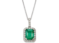 Brasilica by EFFY  - Emerald & Diamond Pendant Necklace