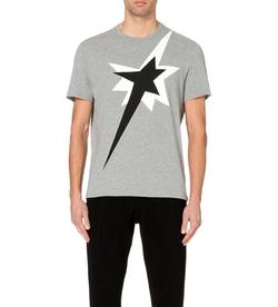 Neil Barrett  - Star-Print Cotton-Jersey T-Shirt