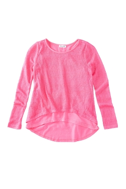 Splendid  - Slub Knit Split Back Layered Sweater