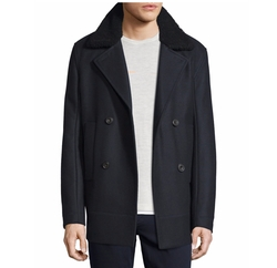 Vince  - Melton Wool-Blend Pea Coat