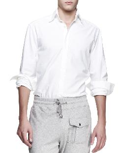 "Michael Bastian - Long-Sleeve ""Lucky"" Shirt, White"