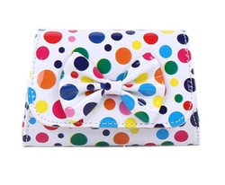 Cachae - Polka Dots Bowknot Clutch Bag