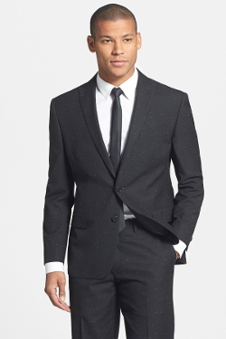 Star USA By John Varvatos - Slub Black Peak Lapel Blazer