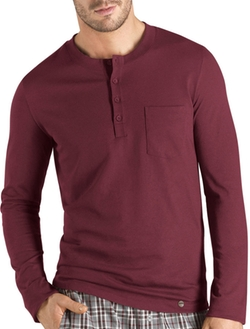 Hanro - Emilien Long-Sleeve Henley Lounge Shirt