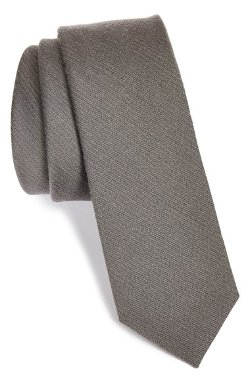 The Tie Bar  - Wool & Silk Solid Tie