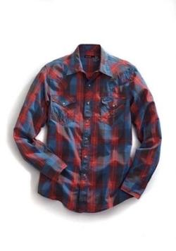 Tin Haul - Buffalo Plaid Western Shirt
