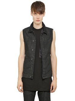 Rick Owens  - DRKSHDW Waxed Cotton Denim Vest