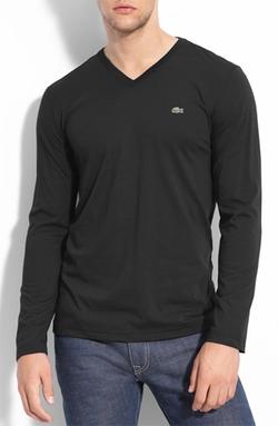 Lacoste - Pima Cotton V-Neck T-Shirt