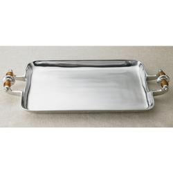 Kindwer - Amber Beaded Aluminum Serving Tray