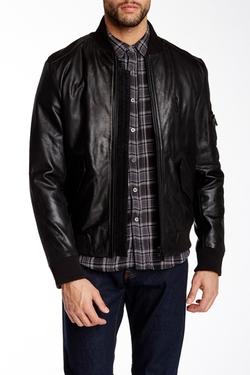 Gilded Age - Slealth Leather Bomber Jacket