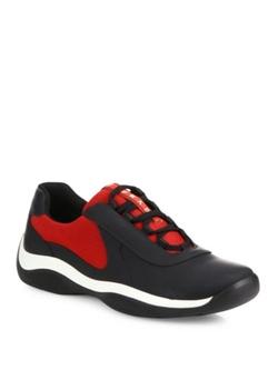 Prada  - Punta Ala Leather Sneakers