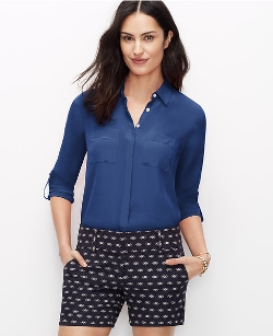 Ann Taylor - Silk Camp Shirt