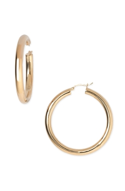 Argento Vivo  - Medium Tube Hoop Earrings